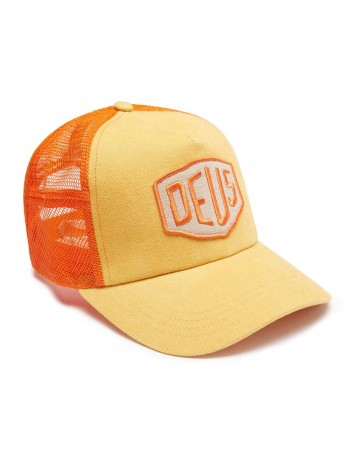 DEUS Trucker Kappe Foxtrot Shield - orange