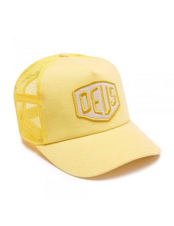 DEUS Trucker Kappe Foxtrot Shield - yellow