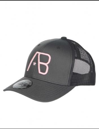 AB cap Retro Trucker - Grey / Pink
