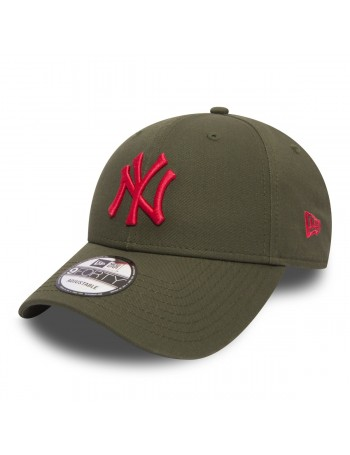 New Era 9Forty League Essential (940) New York Yankees Olive Red