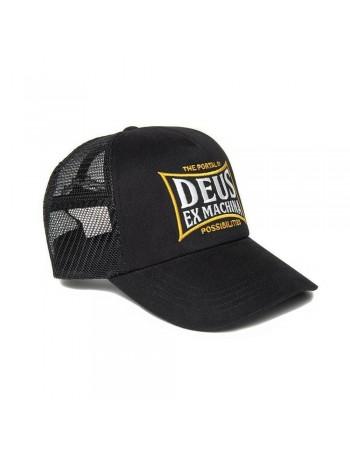 DEUS Twinbox Trucker cap - Black