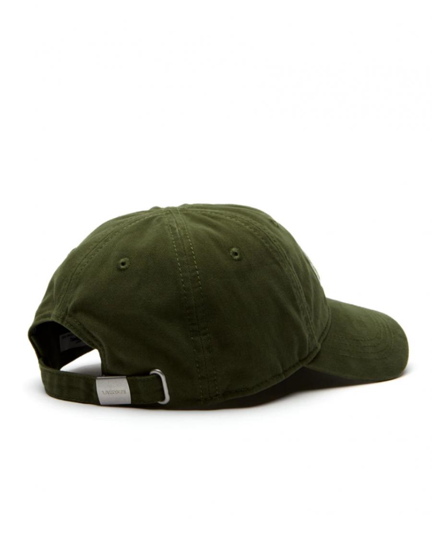 e55603939e4 Lacoste Kappe - Big Croc Gabardine - boscage green