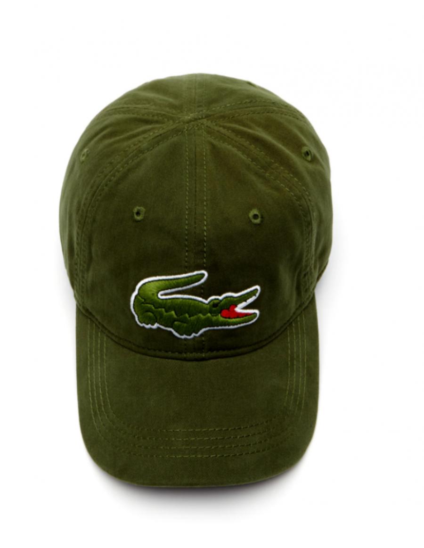 f6f90b3f Caps Kaufen | Lacoste Kappe - Big Croc Gabardine - boscage green ...